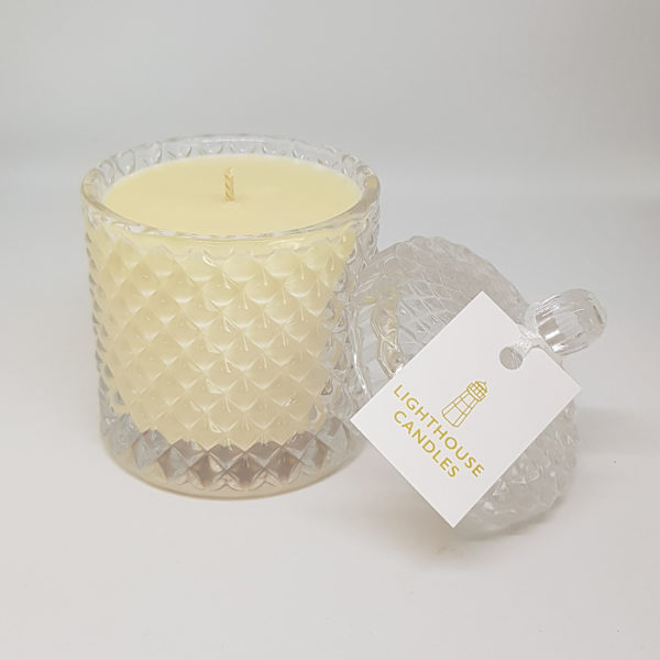 Crystal Geo Candles with lids